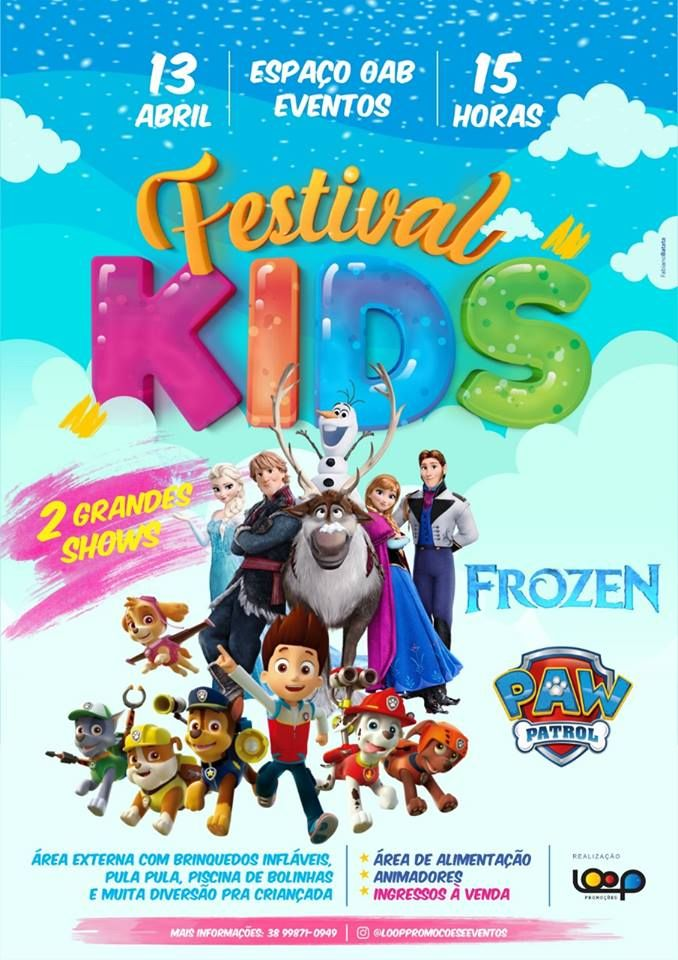 Festival Kids - Patrulha Canina e Frozen